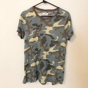 Madewell Camo Linen T-shirt